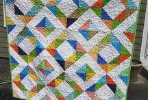 triangles scrap quilts