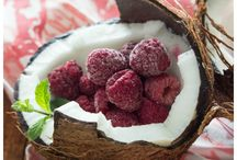 Raspberry with coconut