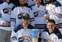 2014 Labatt Blue U.P. Pond Hockey Championship / Where pond hockey teams come from all over the country to play hockey on the wild ice of Lake Huron in St. Ignace, Michigan!