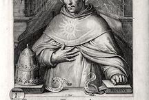 St Thomas d'Aquin 1225-1274 / En vertu de Notre suprême autorité, Nous déclarons le Docteur angélique, SAINT THOMAS, patron des Universités, Académies, Collèges et Ecoles catholiques. (Bref de S. S. Léon XIII.)
