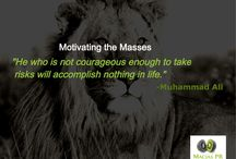 Leading & Motivating the Masses / Leadership quotes from the world's most famous leaders.