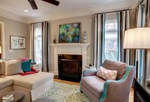 Interior Design Apex NC - Private Residence - Family Room / Interior Design, furnishings, art, custom window treatments