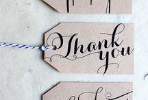 Handlettering gift tags