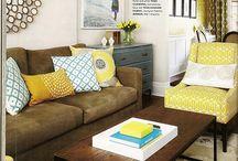 obývačka so žltou