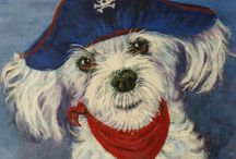 Fun Paintings of their pets for Childrens Rooms