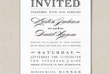 Wedding invites / by Jackie Albrecht