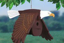 ptaki drewniane