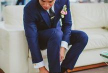 Wedding Blue Suit