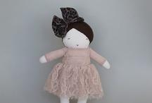 Soft toys, art dolls