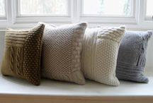 Cushions made by yarn / DIY ideas & inspiration. Knitting/crochet patterns and tutorials.