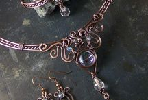 Wire wrapped necklaces pendants