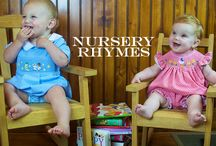 Nursery Rhymes Collection / Smocked and applique bishop dresses, john johns, shortalls, and bubbles for children 3M-6 years