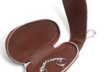 leather car key pouch