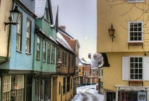 Norwich Norfolk uk / The historical town of Norwich has retained its charm but kept pace with modern needs
