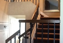 Kelly Dupee Staircase Transformation / Oak Craftsman Style Woodwork With  Round Knuckle Iron