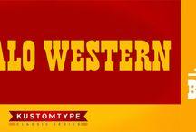 Buffalo Western by Kustomtype / Buffalo Circus  http://www.myfonts.com/fonts/kustomtype/buffalo-western/