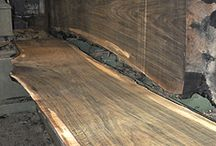 Woonkamer & Tafel / Eettafels, staal, houten tafels