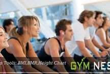 Gym Fitness Tool Management / The GYM Management Software provides you Fitness tools which is helpful for keeping an idea about fitness of candidates. Three main tools are there... BMI,BMR,Height Chart