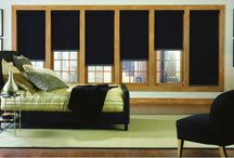 Blackout Window Shades / Blackout window shades to set the mood and make any setting right.
