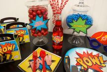 Superhero Party Ideas / Join forces with Birthday Express to create the ultimate birthday party experience for your little superhero! Styling by Brittany Schwaigert of GreyGreyDesigns: http://www.greygreydesigns.com/2014/02/my-parties-bretts-superhero-4th.html