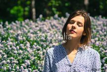 Spring Girl / Young Girl, Spring, Flowers