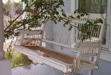 front porch livin'.
