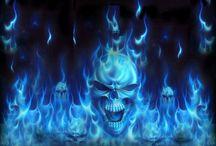 skull ( blue )