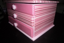 Decorated boxes/drawers