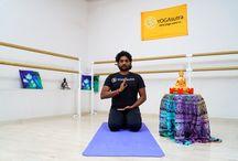 Йога на Ленинском проспекте / Йожимся вместе с мастерами из Индии. Йога - это здоровье, красота и радость :)