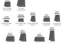Card measurements / educational
