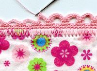 putting edging on material with crochet