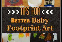 Baby footprint art