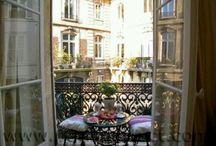 Paris balconies and terrasses
