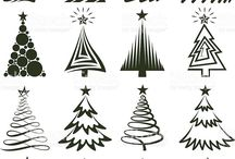 various Christmas tree variations