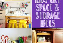 Art Supplies Storage Ideas
