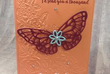 Abstract Impressions / Stampin' Up! Abstract Impressions and Springtime Impressions Thinlits Dies