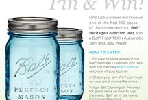 Share Your Heritage Blue Contest - CLOSED / Enter to win a case of the limited-edition Ball® Heritage Collection Pint Jars and a Ball® FreshTECH Automatic Jam and Jelly Maker! Pin an image of the Heritage Collection Pint Jars with the hashtag #heritageblue for a chance to win. Check out these great pins from FlourOnMyFace.com, DagmarBleasdale.com and SarahHearts.com for inspiration. / by Ball® Canning
