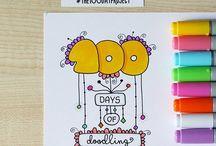 100 days  doodles