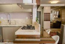 cozinha integrada sala