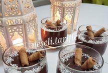 sütlü tatlıları serpişin