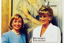 Diana block stamp sheets