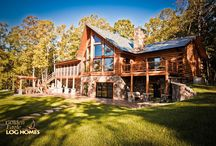 Lakehouse Ranch Luxury Log Home / This is a Ranch version of our extremely popular Lakehouse floor plan.  For information on how to get us involved with your new home, give us a call at 1-800-270-5025. If it's after hours, then enjoy our website at www.GoldenEagleLogHomes.com