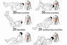 Trening / Trening -magemuskler  -bein -volleyball
