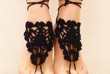Crochê pés
