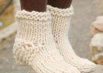 knit and crochet- socks and slippers