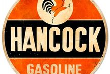 gas and metal signs