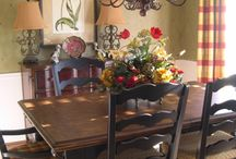 Farmhouse Dining Room Ideas / by Sherry Martin-Griffith