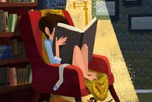 The Art of Reading / Images, pictures of reading, books, writers, authors