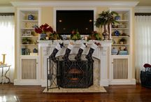 """KKDL Portfolio: Wishing You a Merry Christmas / Decorated throughout with luscious greenery and ripe pomegranates, this classic home is something to behold. Cascading pine nettles, mannerly textiles and delicate wishbone ornaments are scattered throughout the residence, Kerrie Kelly Design Lab's wink to """"wishing"""" you a Merry Christmas. Like a storybook Christmas illustration, this remarkable residence is the epitome of a winter celebration."""
