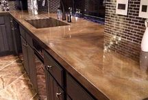 cement kitchen table tops